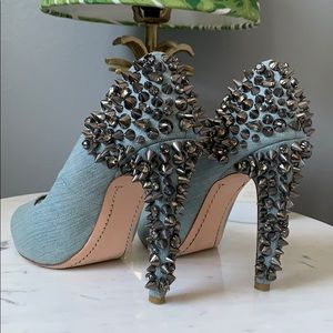 Sam Edelman Lorissa Denim Peeptoe Pumps, 8.5